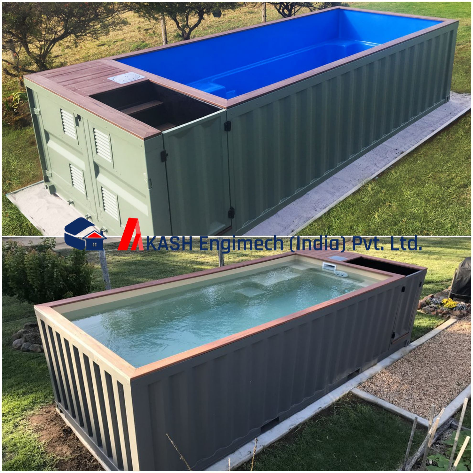 Akash Engimech India Pvt Ltd 20 39 Swimming Pool Container